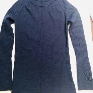 Tory Burch royal blue knit sweater